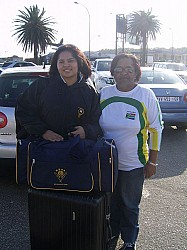 Jo-Lynn at Port Elizabeth Airport